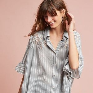 Anthropologie Maeve Betty Oversized Buttondown